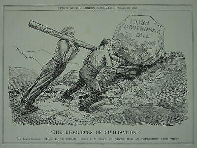 Post WW1 THE IRISH GOVERNMENT BILL - COALITION Original Print 1920 Cartoon
