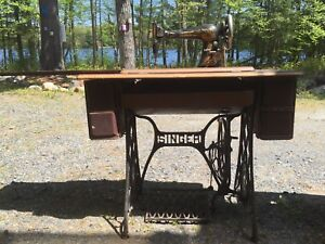 1901 Singer Sewing Machine & Table
