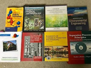 Chemical Engineering textbooks UNB