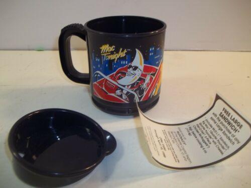 Vintage 1988 Mac Tonight McDonalds plastic travel coffee mug N.O.S