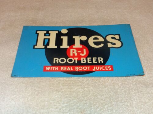 "VINTAGE ANTIQUE ORIGINAL HIRES ROOT BEER RECORD 12"" METAL SODA POP GAS OIL SIGN!"
