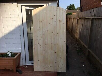 Wooden Bespoke Gate - Garden Timber Door -Solid Side Gates- h-6ft x w -3ft