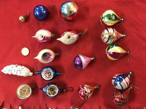 Christmas tree decorations ( antique hand blown mercury glass)