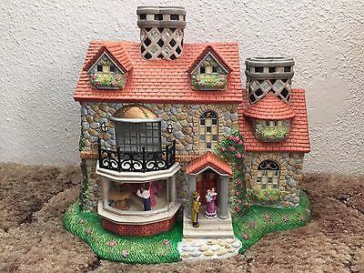 Partylite Olde World Village # 3 Bristol House P7322 Tealight Candle Holder/ 2