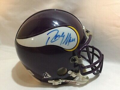 Randy Moss Minnesota Vikings signed autographed mini football helmet Rare -