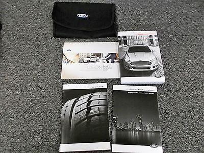 2014 Ford Fusion Owner Owner's User Guide Manual 2.0L SE S Luxury Titanium