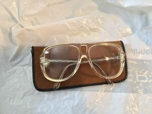 Unique 1970's  bausch and Lomb transparent white Aviator glasses