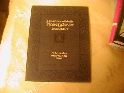 Maschinenfabrik Hasenclever A.G Düsseldorf Katalog B 1912