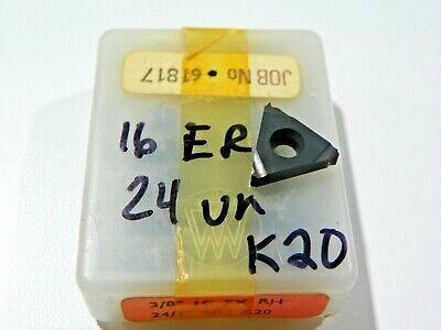10 Pieces Vardex 16er 24un K20 Carbide Inserts  F523