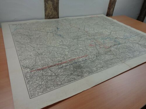 """WW1 (1918) German """"SPRING OFFENSIVE"""" FRONTLINE MAP with OPERATIONAL MARKINGS"""