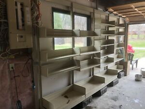 Reduced - strong metal shelving (wall-mounted)