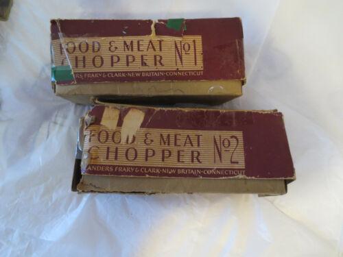 2 VINTAGE UNIVERSAL FOOD & MEAT CHOPPER/GRINDER No.1and No.2