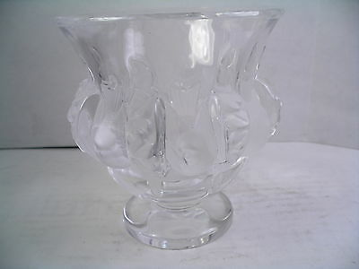 Lalique With Frosted Birds & Alternating Vines Vase/Bowl signed 4 7/8""