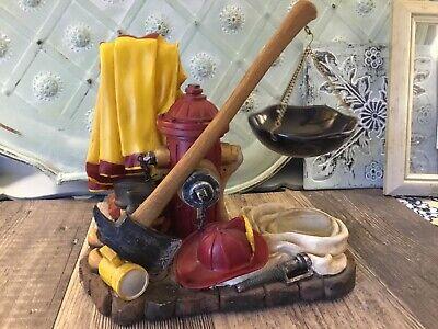 Yankee Candle Rare Fireman axe hydrant Warmer Boots Fireman Hat Jacket Hose