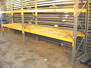 3 bays genuine dexion speedlock pallet racking with decks for 3 bays