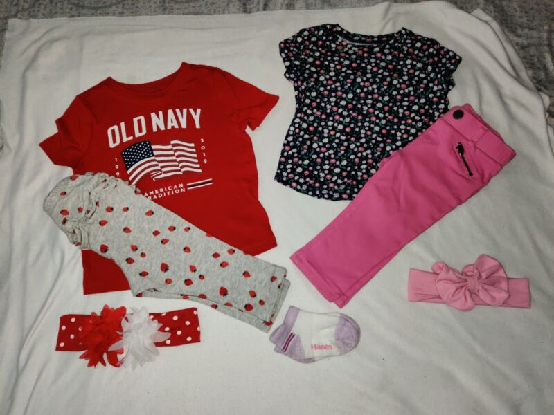7 Piece Baby Girls Lot Spring Tops And Pants Old Navy/children