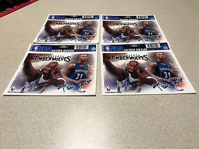 NBA Kevin Garnett Minnesota Timberwolves Window Cling Decal / Sticker Set of 4