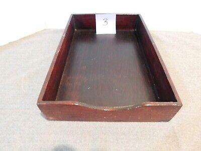Vintage Wooden Desk Tray #3