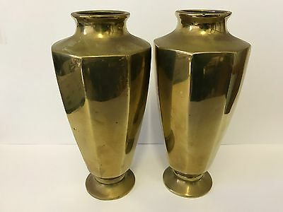 BRASS Vases Very old  7inches High PAIR