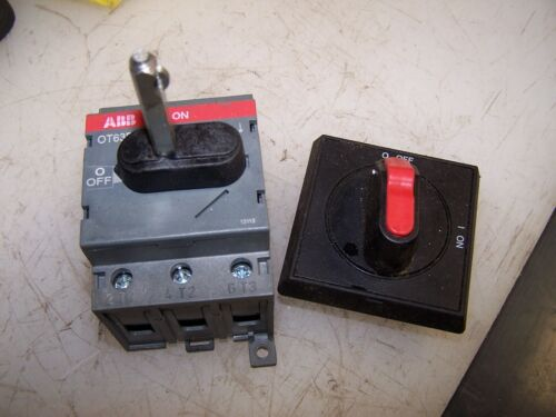 ABB OT63F3 SAFETY SWITCH  60 AMP 600 VOLT 3 POLE COMPLETE W/ HANDLE & ROD
