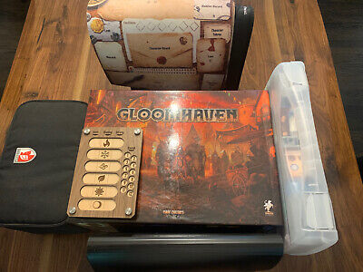 Gloomhaven Ultra Bundle With ALL FIGURES PAINTED and Broken Token Organizer