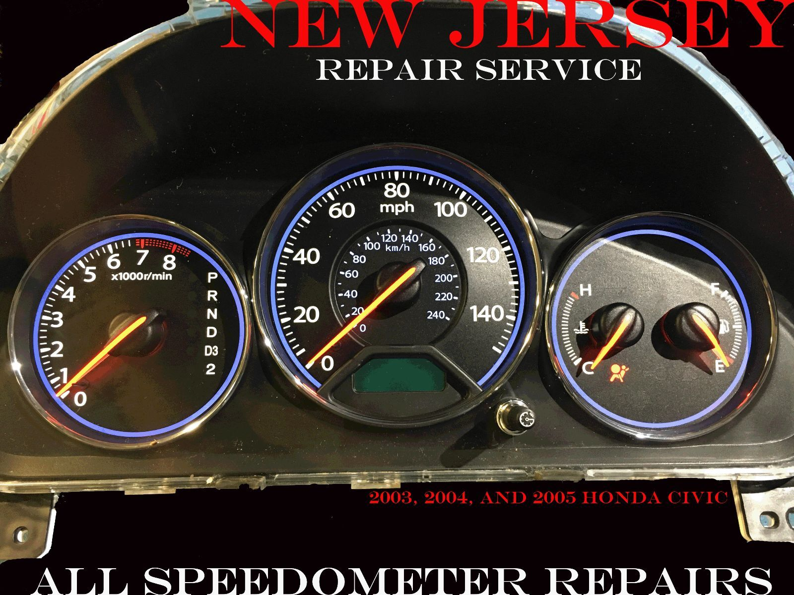 01 02 03 04 05 Honda CIVIC SPEEDOMETER INSTRUMENT CLUSTER GAUGES REPAIR SERVICE