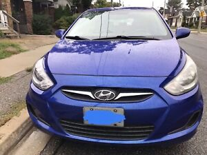 2013 Hyundai Accent HB in excellent condition with winter tires
