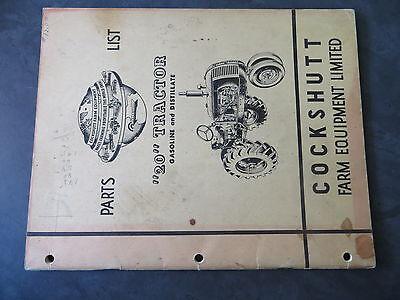 Cockshutt 20 Tractor Parts List