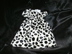 Dalmation-Bag-Cruella-Faux-Fur-Fancy-Dress-Accessory-NEW