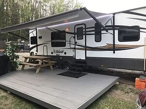 Travel trailer at RV  resort
