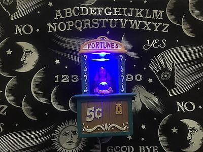Carnival Boardwalk Fortune Teller Light Up Display Figure Dept 56 Lemax Size 5in
