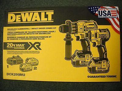 DeWalt DCK299M2 20V Brushless Smash Driver Hammerdrill Cordless Kit Li-Ion NEW