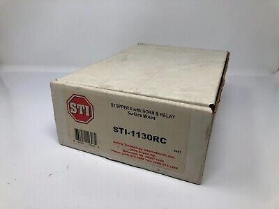 Sti-1130rc Stopper Ii W Horn Relay Surface Mount Pull Station Cover - New