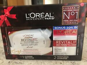 L'OREAL REVITALIFT CREAM & CLEANSING TOWELS **NEW GREAT GIFT