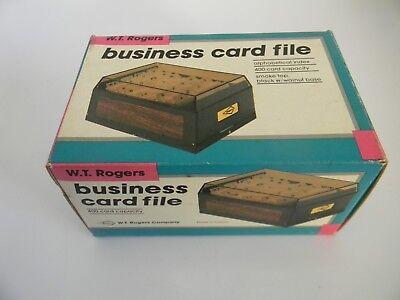 Nib Vintage W.t. Rogers Business Card File