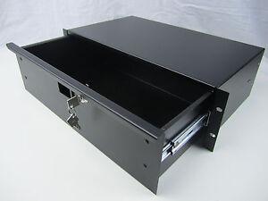 2u shallow rack drawer 19 rack mount abs audio racks ebay. Black Bedroom Furniture Sets. Home Design Ideas