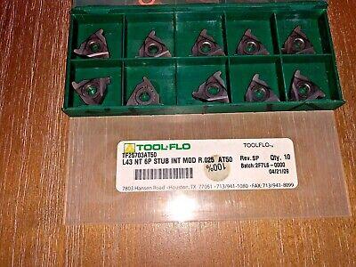 Tool Flo Carbide Inserts L43 Nt 6p Stub Int Mod R.025 At50 Qty 10