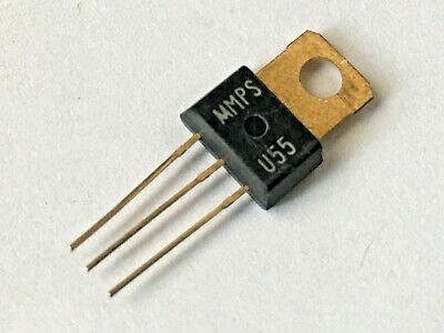 Vintage Motorola Mps U55 Pnp Power Bjt- Gold Pins Nos