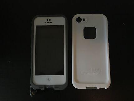 APPLE IPHONE 5 5S SE WATERPROOF DIRTPROOF HEAVY DUTY CASE - WHITE
