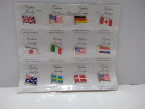 12 Pieces Fashion Jewelry Flag Pins #5