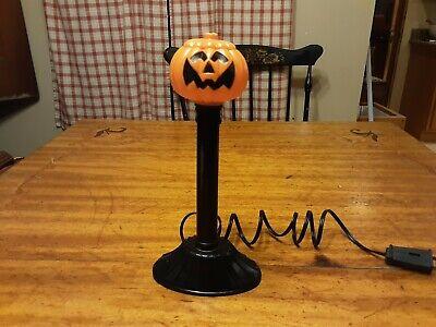 Halloween Candle Stick Vintage Blow Mold pumpkin jack o lantern light window