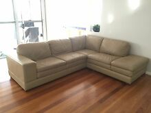 Leather Modular Lounge with chaise Rouse Hill The Hills District Preview