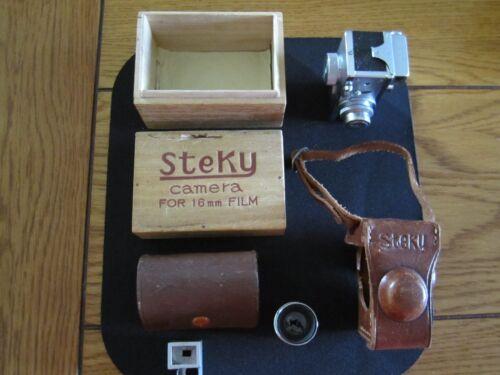 Vintage Steky III subminiature spy camera with telephoto lens