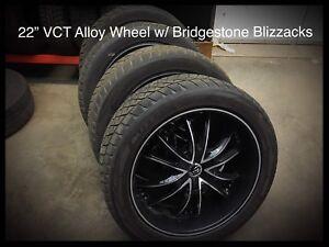 """22"""" VCT ALLOY WHEELS w/ Bridgestone Tires"""
