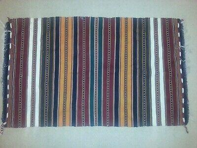 Rug, Hand Made, Traditional Nomadic Hand Made Oriental Wool Kilim