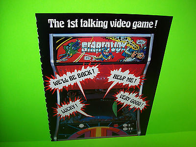 Taito Stratovox 1980 Video Arcade Game Promo Advertising Not A Sales Flyer