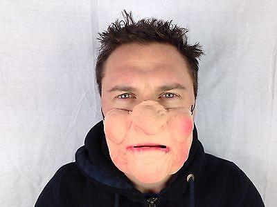 lustig halbes Gesicht Mürrische alter Damen Maske Hag Hexe Party Masken