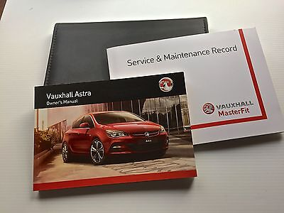 VAUXHALL ASTRA J  & GTC SERVICE BOOK HANDBOOK & WALLET PACK -  2013 To 2016 NEW