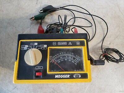 Biddle Megger 212160 Hand Cranked Megohmmeter Insulation Continuity Tester