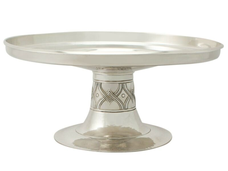 Edwardian Sterling Silver Tazza - Arts and Crafts Style